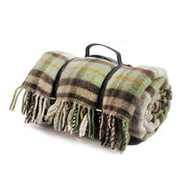 Woollen Picnic Blanket - Country/Brown