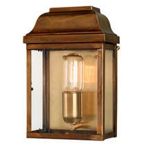Victoria Flush Wall Lantern - Brass