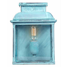 Lambeth Palace Flush Wall Lantern - Verdigris