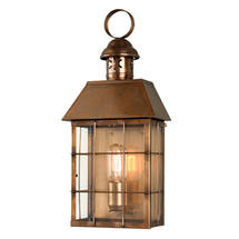 Hyde Park Flush Wall Lantern - Brass