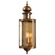 Downing Street Flush Wall Lantern - Brass