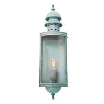 Downing Street Flush Wall Lantern - Verdigris