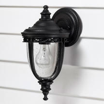 English Bridle Small Wall Lantern - Black