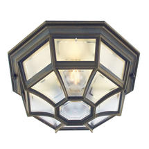 Latina Porch light - Black/Gold