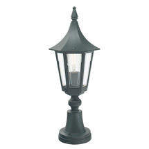 Rimini Pedestal Lantern - Black