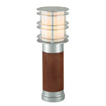 Stockholm Medium Wooden Bollard Light - Galvanised