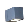 Voss Straight & Flared Beam Wall Lantern - Aluminium