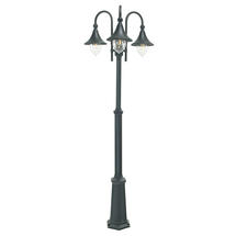 Firenze Triple Post Lantern - Black