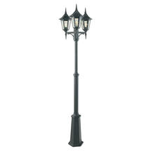 Valencia Triple Post Lantern - Black