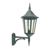 Valencia Grande Up Wall Lantern - Black
