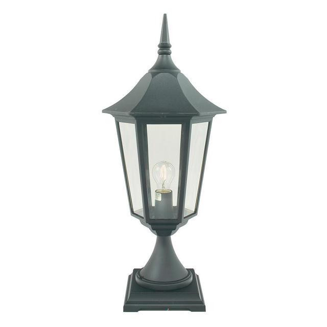 Cheltenham Cast Pedestal Lantern Light Black: Buy Valencia Grande Outdoor Pedestal Lantern By Norlys