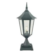 Valencia Grande Pedestal Lantern - Black