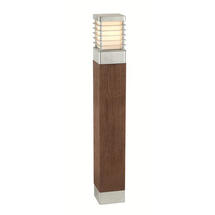 Halmstad Large Wooden Bollard Light - Galvanised