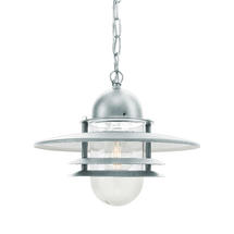 Oslo Outdoor Hanging Lantern - Galvanised