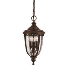 English Bridle Hanging Lantern - Bronze