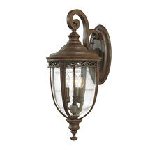 English Bridle Large Wall Lantern - Bronze