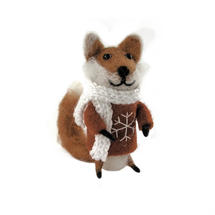 Felt Fox with Red Jumper