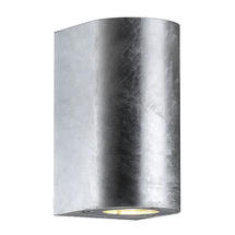 Canto Maxi Up/Down Wall Light - Galvanised