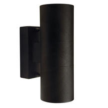 Tin Up/Down Outdoor Wall Light - Black