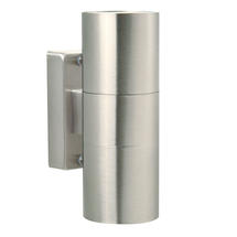 Tin LED Up/Down Wall Light - Stainless Steel