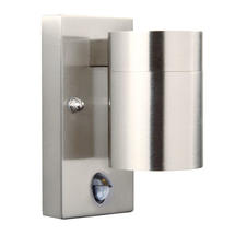 Tin Wall Light with Sensor - Stainless Steel