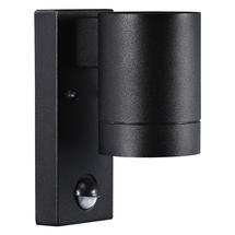 Tin Maxi Wall Light with Sensor - Black