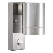 Tin Maxi Wall Light with Sensor - Aluminium