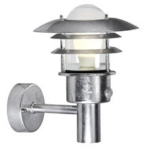 Lonstrup 22 Wall Light with Sensor - Galvanised