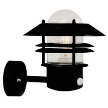 Blokhus Up Wall Light with Sensor - Black