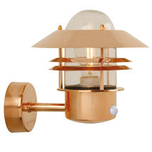 Blokhus Up Wall Light with Sensor - Copper