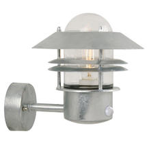 Blokhus Up Wall Light with Sensor - Galvanised