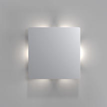 Quadro Disc LED Wall Light - Stainless Steel