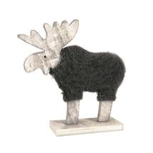 Large Wooden Reindeer & Coat
