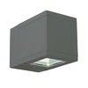 Voss Down Flared Beam Wall Lantern - Graphite