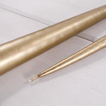 Pair of Gold Taper Candles 42cm