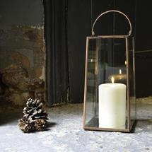 Copper Mirrored Lantern - Large