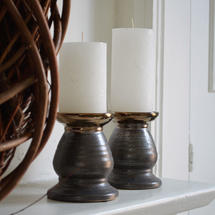Metallic Ceramic Candle Holder