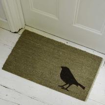 Bird Coir Doormat - Beige