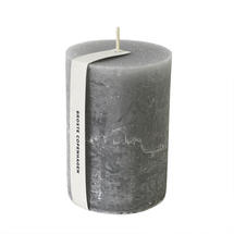 10 x 7cm Rustic Pillar Candle - Dove Grey