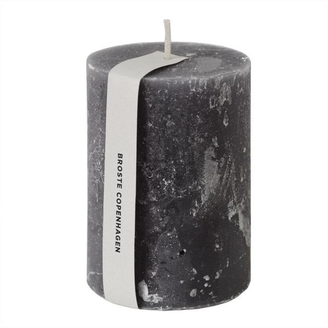 One Classic Pillar Candle GREY  7cm x 10cm 7cm x 14cm OR 7cm x 18cm LIGHT GREY