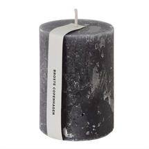 10 x 7cm Rustic Pillar Candle - Steel Grey