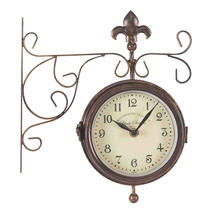 York Outdoor Station Clock/Thermometer