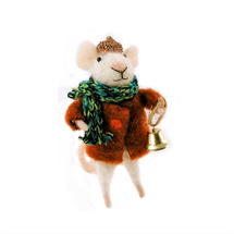 Felt Mouse with Brown Winter Coat
