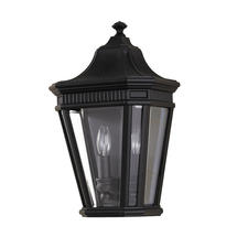 Cotswold Lane Flush Wall Lantern - Black