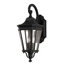 Cotswold Lane Medium Wall Lantern - Black