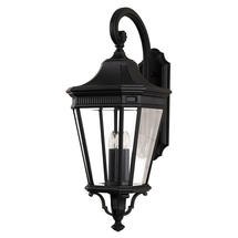 Cotswold Lane Large Wall Lantern - Black