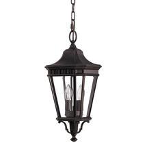 Cotswold Lane Medium Hanging Lantern - Grecian Bronze