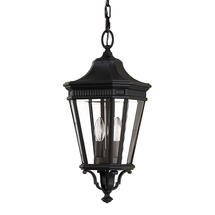 Cotswold Lane Medium Hanging Lantern - Black