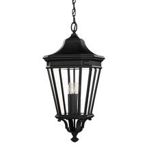 Cotswold Lane Large Hanging Lantern - Black