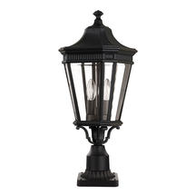 Cotswold Lane Medium Pedestal Lantern - Black
